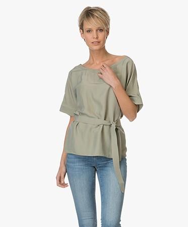 boss orange etai blouse kaki etai 50330161 259 dark. Black Bedroom Furniture Sets. Home Design Ideas
