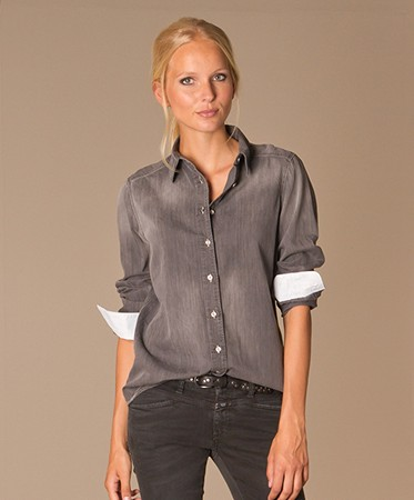 Zwarte Denim Blouse 86
