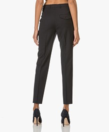 Filippa K Fiona Peg Slacks Cool Wool - Donkerblauw
