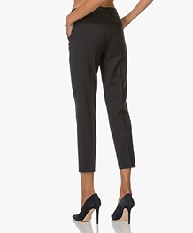 Filippa K Luisa Cropped Cool Wool Slacks - Navy