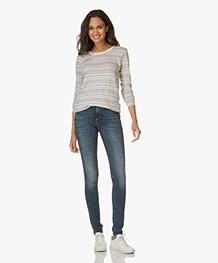 Denham Needle High Skinny Jeans - Donkerblauw