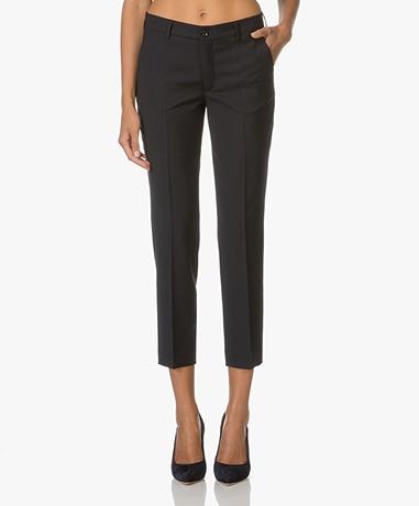 Filippa K Luisa Cropped Cool Wool Pants - Dark Navy