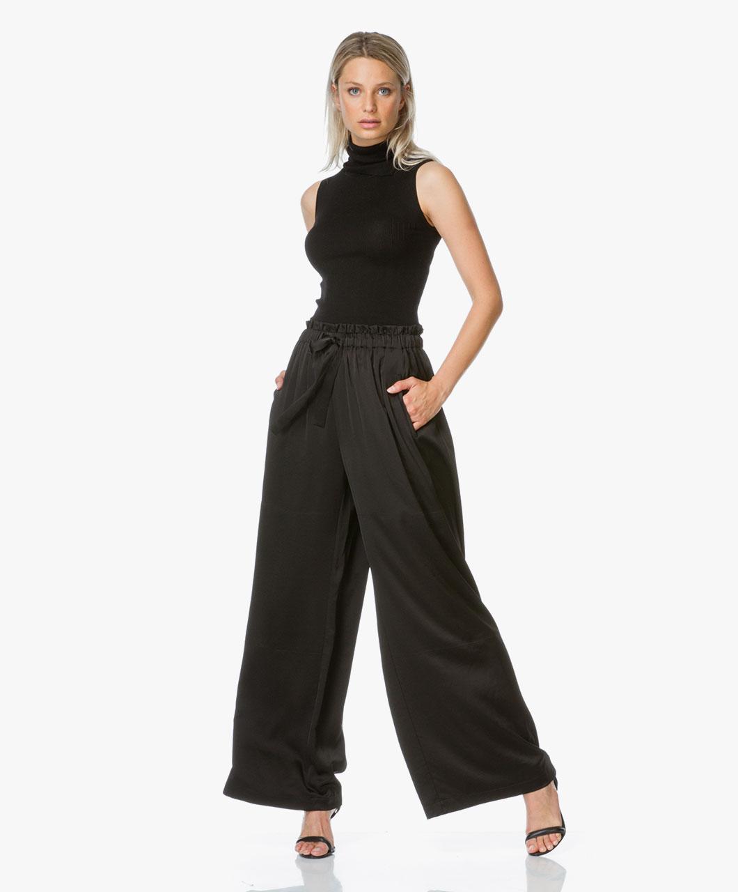 Womens Bea Satin Belt Slacks Trouser Filippa K nP4bPOj