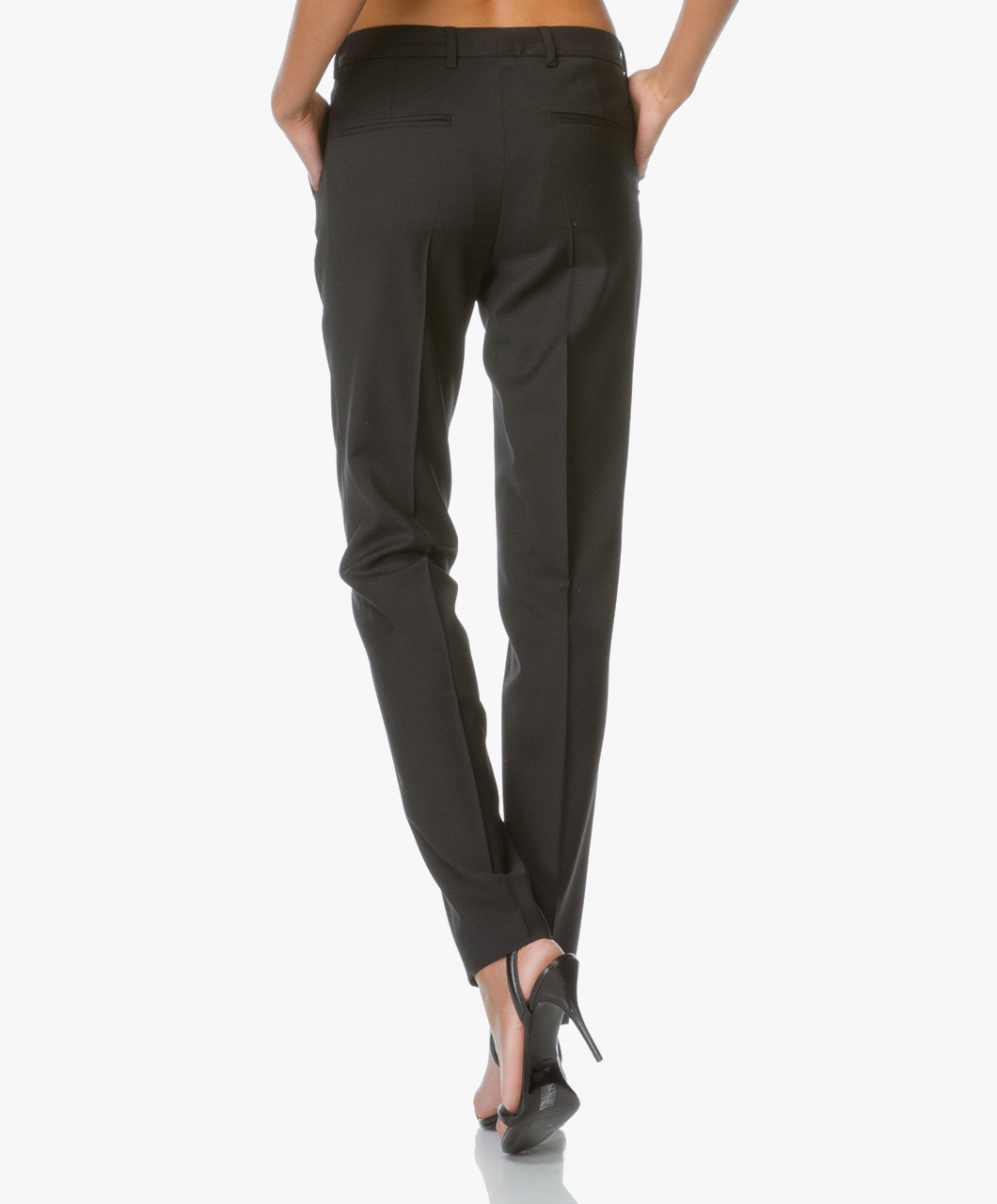 Filippa K Luisa Cool Wool Slacks - Black - 17004 87184e5366d46