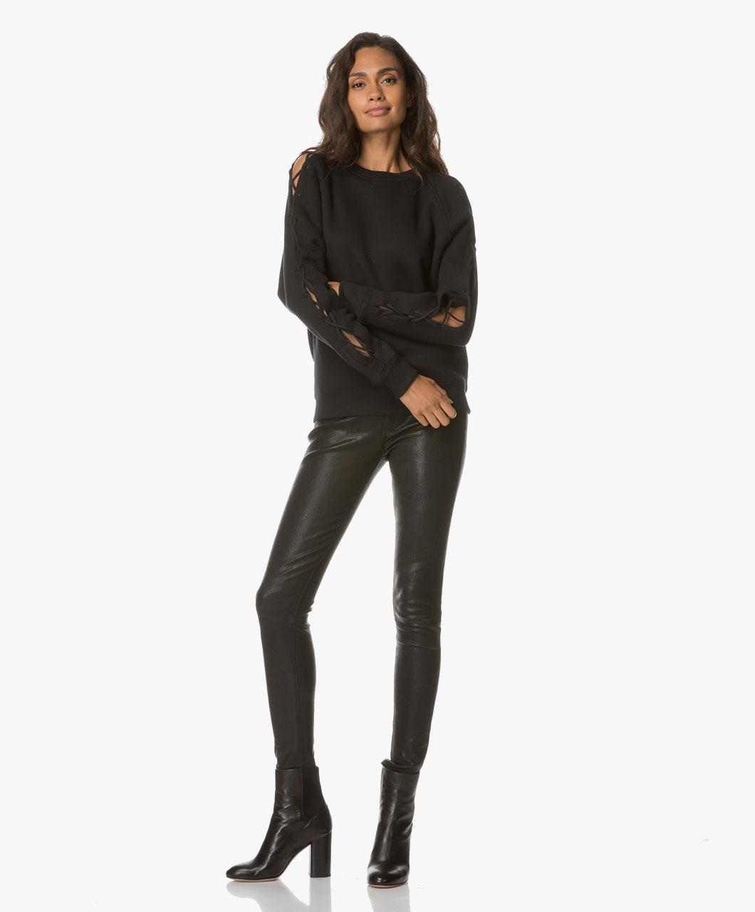 Danica collins leather skirt