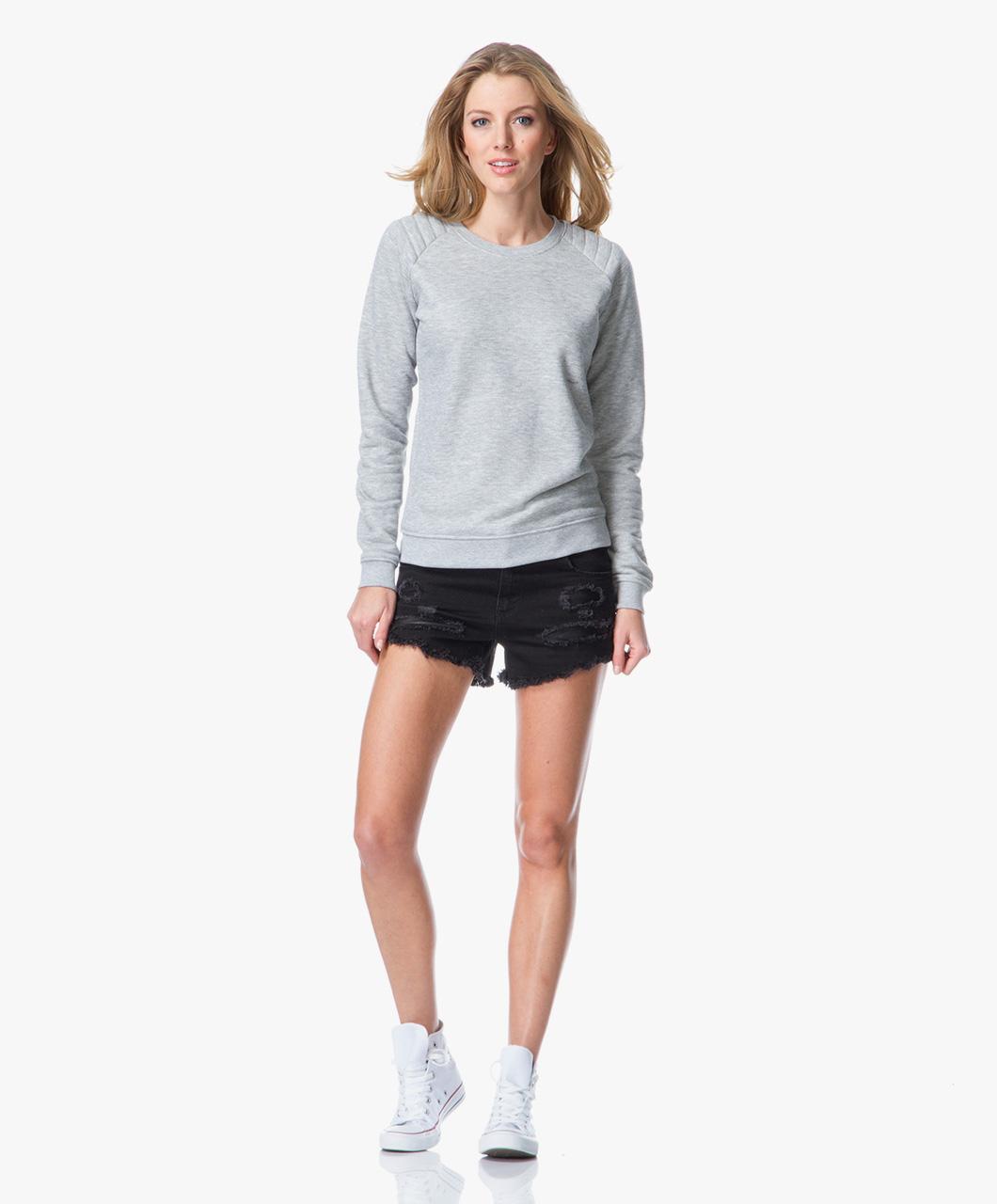Zoe Karssen Rip'N Roll Boyfriend Shorts - Denim Black - Zoe Karssen