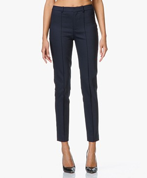 Drykorn Pantalon Act in Fine Cotton-stretch - Dark Navy