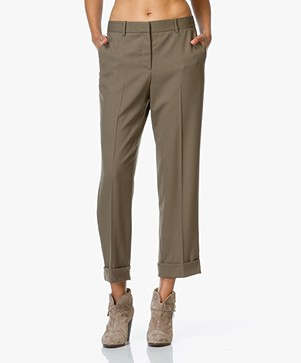 Theory Heze Wool Pants - Military