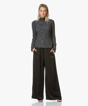 Filippa K Bea Satin Belt Slacks - Zwart