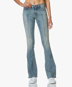 Denham Farrah Super Flare Fit Jeans - Love-worn Blauw