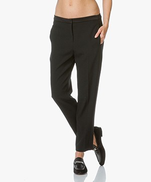 Rag & Bone Tally Crepe Trousers - Black