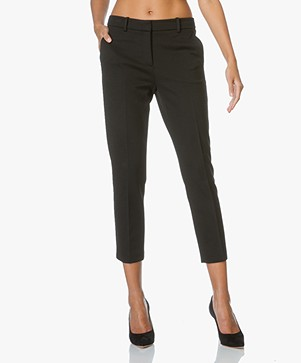 Theory Cropped Pants Treeca - Black