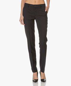 Filippa K Luisa Cool Wool Pantalon - Donkerblauw