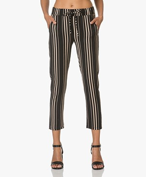 BY-BAR Gestreepte Pantalon