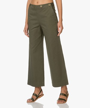 Theory Namid Cropped Pantalon - Myrtle