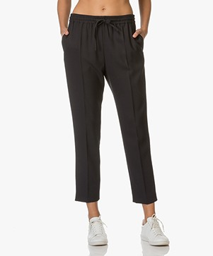 Joseph Louna Pantalon in Stretch-Wol - Navy