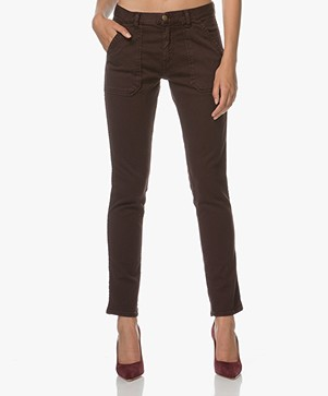 Ba&sh Girlfriend Jeans Sally - Bordeaux