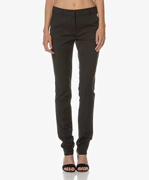 Sportmax Ondina Cotton Blend Pants - Black
