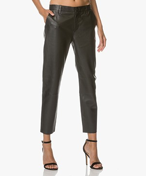 Closed Jack Leather Pants - Black