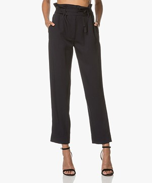Theory Gunilla High-waist Jersey Broek - Deep Navy