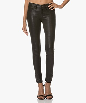 Rag & Bone / Jean Skinny Leather Pants - Washed Black