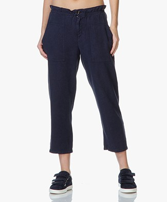 Vanessa Bruno Athé Erevan Twill Trousers - Dark Blue