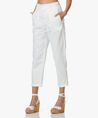 Closed Emmy Cotton Chinos with Pleat - Ivory