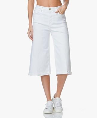 Frame Le Gaucho Denim Culottes - White