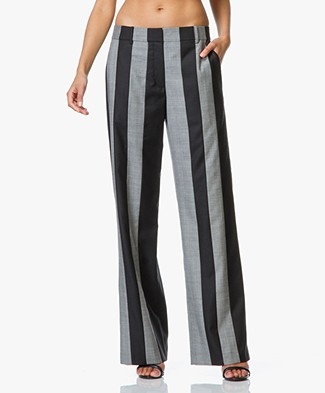 Alexander Wang Runway Wide Tailored Striped Pants
