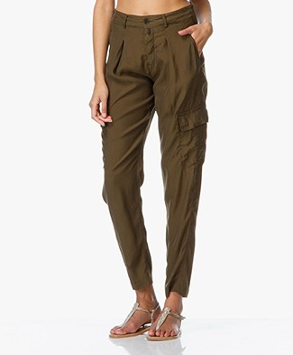 Drykorn Blok Loose-Fit Trousers - Dark Khaki