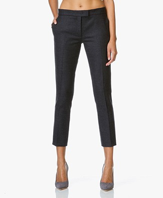 Joseph Finley Cropped Slim-fit Pants - Coal