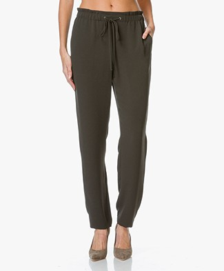 Theory Tralpin Crepe Pants - Military