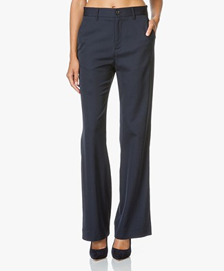 Closed Belle Flared Trousers - Navy