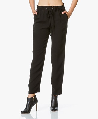 Theory Tralpin Crepe Pants - Black