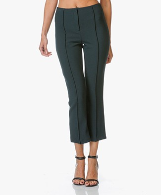 By Malene Birger Scaled Pants - Dark Green