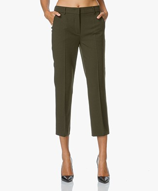 Sportmax Opice Cropped Pantalon - Khaki-brown