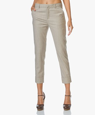 Closed Stewart Wool mix Pants - Beige Melee