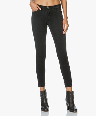 Current/Elliott The Stiletto Skinny Corduroy Jeans - Washed Black