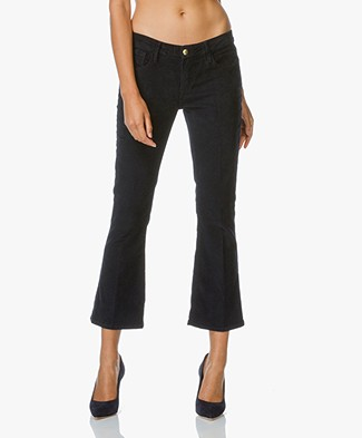 Frame Le Crop Mini Boot Corduroy Broek - Deep Blue Dive