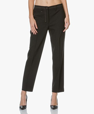 Helmut Lang Cropped Wol Stretch Broek
