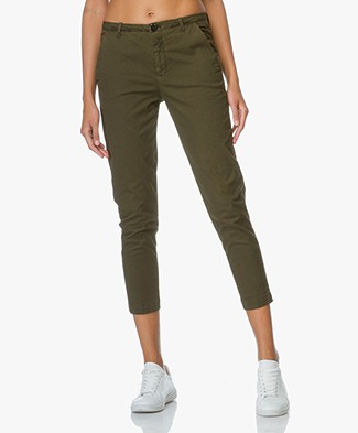 Denham Cropped Chino Ocean - Legion Green