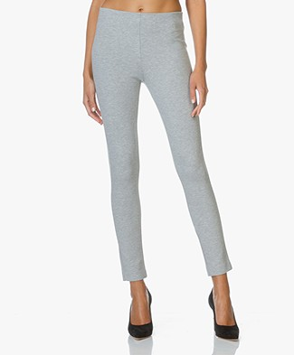 Theory Jersey Slim-fit Pants Navalane - Grey Melange