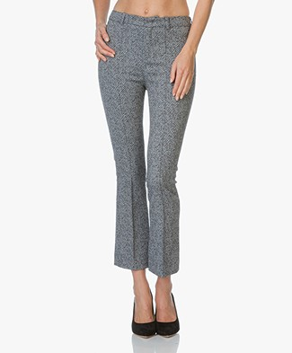 Drykorn Cropped Pants Vibe - Dark Blue Melange