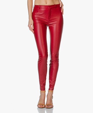 Drykorn Winch Skinny Pants in Leather-Look