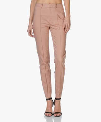 Drykorn Act Fine Cotton-Stretch Trousers - Blush