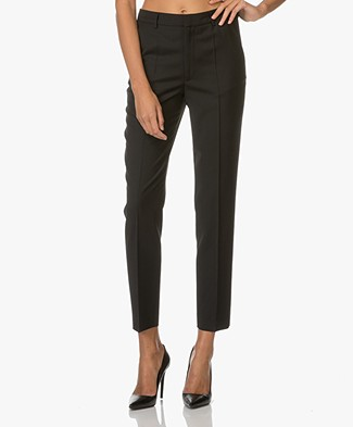 Filippa K Fiona Peg Slacks Cool Wool - Zwart