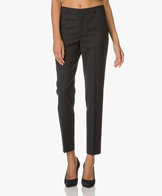 Filippa K Fiona Peg Slacks Cool Wool - Dark Navy