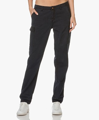 Denham Tara Cargo Pants - Dark Navy