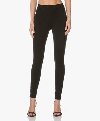 Theory Pants Shawn in Ponte Jersey - Black