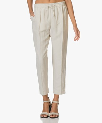 Joseph Pants Louna in Linen and Silk Blend - Ecru